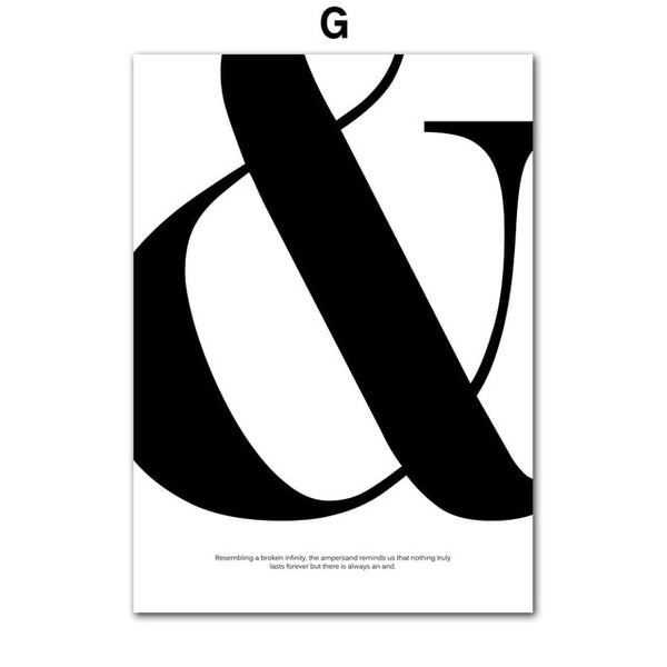 The Creative Director Collection: Ampersand (Unframed)