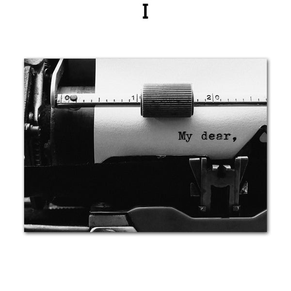 The Impressive Photo Collection: Typewriter (Unframed)