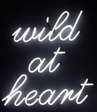 Wild At Heart Glass Neon Sign