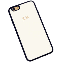 The Power Play Monogrammed Phone Case : Ivory
