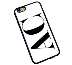 The Decision Maker Initials Phone Cover : White