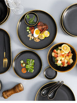 Load image into Gallery viewer, Black Porcelain Tableware