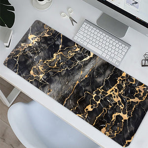 Black Marble Desk Mousepad