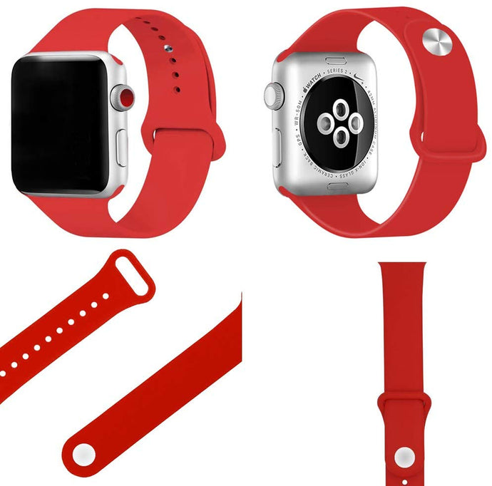 Correa Apple Watch Broche Al Revés Silicon Suave Tipo Sport 38/40/42/44 mm