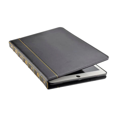 Funda Libro iPad Mini 1 2 3 4 5 Book Case Vintage Negro
