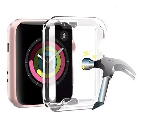 Funda Apple Watch Transparente Flexible Para Series 1 2 3 Pantalla Completa 38 y 42 mm