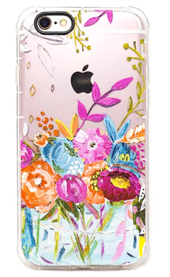 Funda iPhone Flores Mujer Antigolpes 6 6s 6 Plus 7 7+ 8 8+ X Xs Max Xr