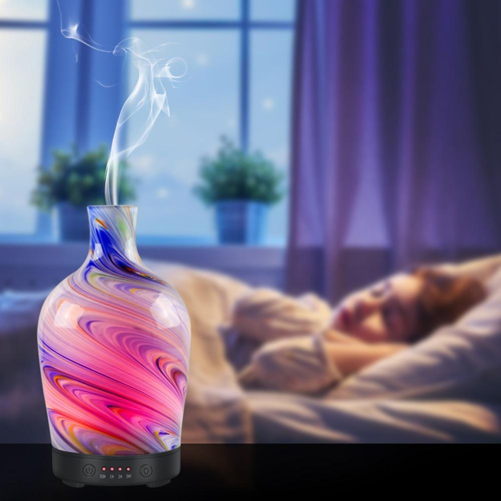 GLASS VASE ULTRASONIC HUMIDIFING ESSENTIAL OIL DIFFUSER