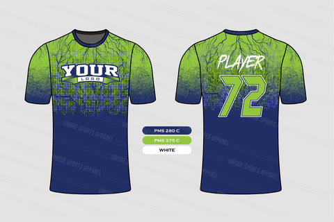 Dot Pattern with Bolt effect Softball Jersey Design Mockup