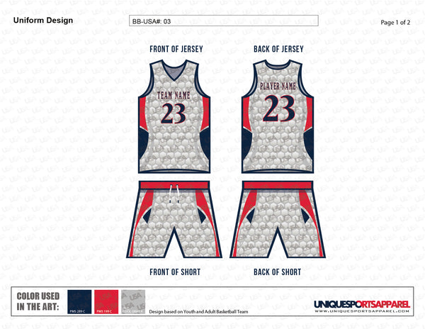 Web pattern exclusive Basketball Game Uniform