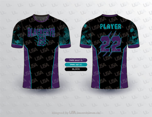 BLACKCATS COMPRESSION SHIRT MOCKUP