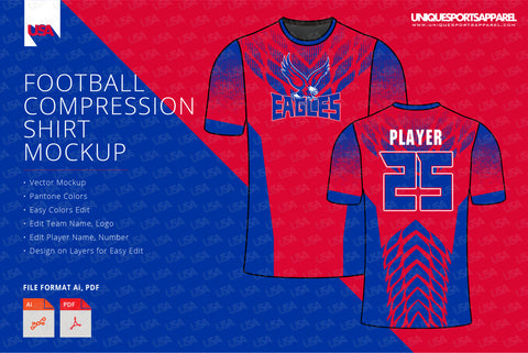 Eagles with wings pattern compression shirt design template