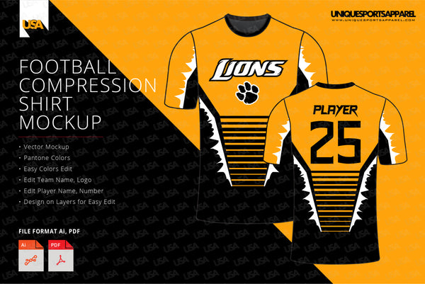 LIONS COMPRESSION SHIRT MOCKUP
