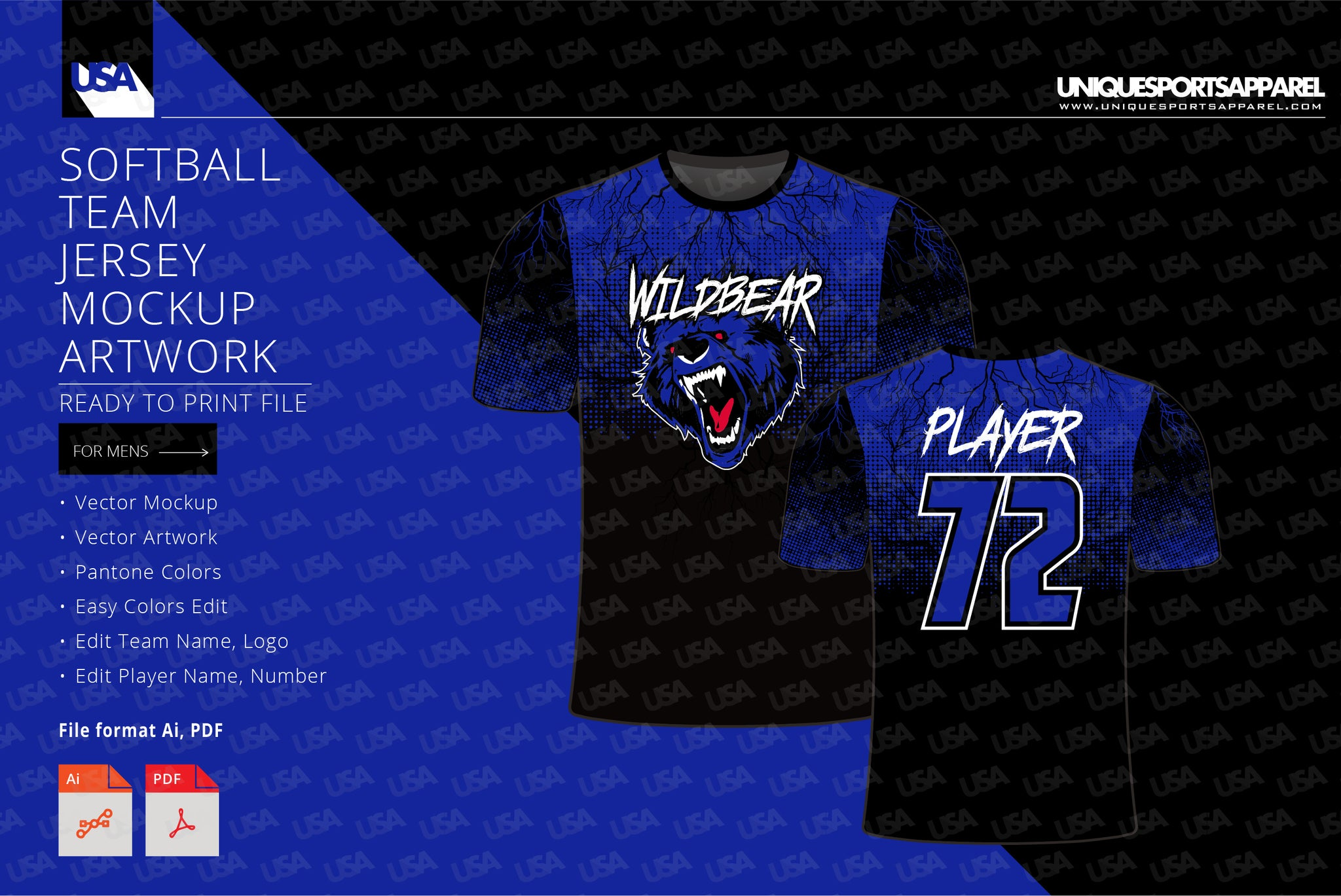 Wild theme Softball Team Jersey
