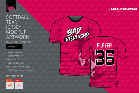Bad Intentions Softball Team Jersey