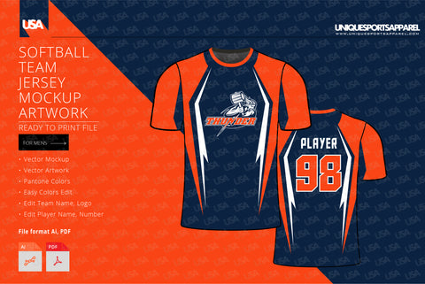 THUNDER Softball Team Jersey