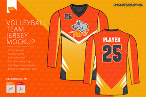 WOLF VOLLEYBALL FULL SLEEVES JERSEY