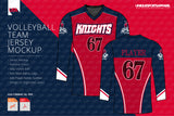 Knights Volleyball Jersey Design Mockup