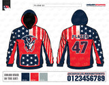 Patriots fleece hoodie design mockup