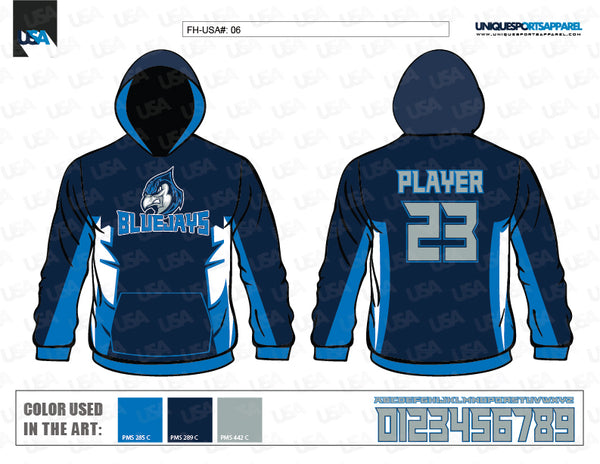 BLUEJAYS FLEECE HOODIE MOCKUP