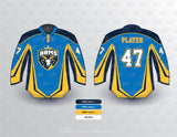 RAMS hockey jersey mockup