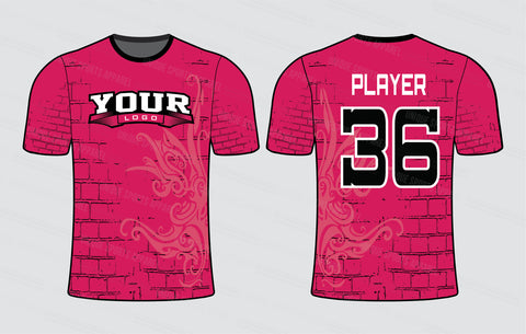 Broken Wall Theme Softball Jersey Design Mockup