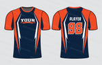 Spiky Edgy Softball Jersey Design Mockup