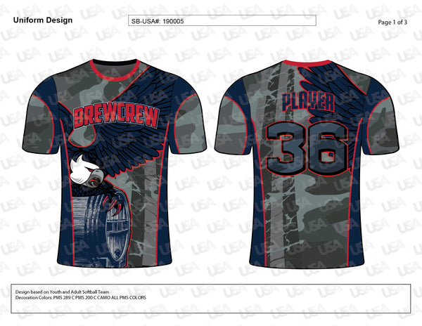 BREWCREW Softball Team Jersey