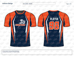 Thunder Softball Jersey Design Mockup