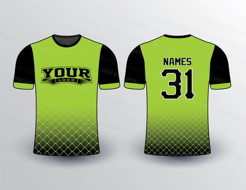 Lime Net Sports Jersey Design Mockup