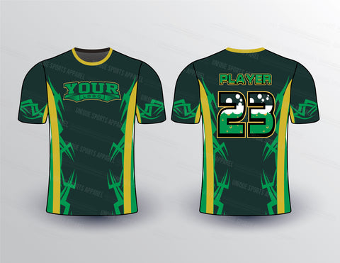 Edgy Pattern Sports Jersey Design Mockup