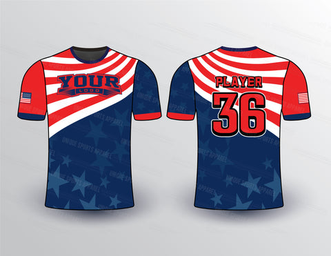 Flying Flag Sports Jersey Design Mockup