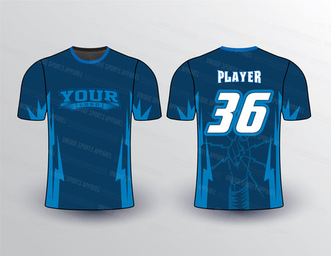 Thunder Strike Sports Jersey Design Mockup