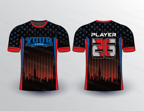 Flag and City Theme Sports Jersey Design Mockup