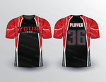Bolt and Metallic Pattern Softball Jersey Design Mockup