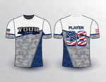 Military Gray Pattern Sport Jersey Design Mockup