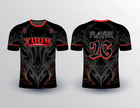 Full Body Tribal Pattern Sport Jersey Design Mockup