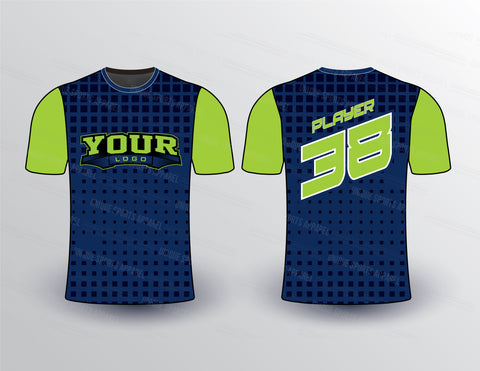 Square Pattern Jersey Design Mockup