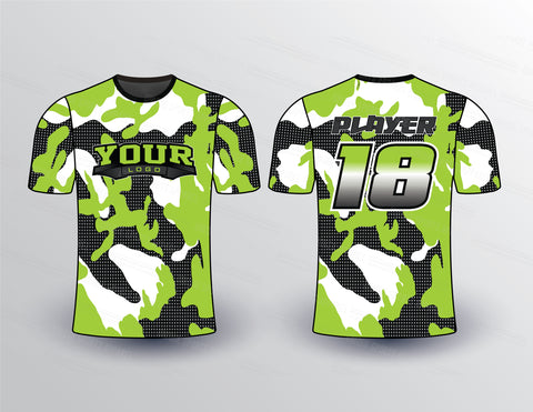 Camouflage Filled Sports Jersey Design Mockup