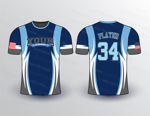Shark Edge Softball Jersey Design Mockup