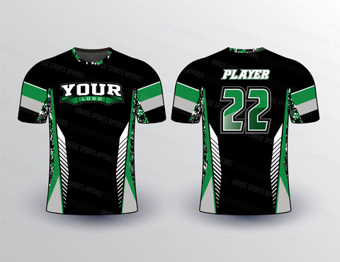 Camo and Stripe Softball Jersey Design Mockup