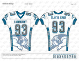 Bulldogs Football Compression Jersey Design Mockup