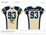 Hornets Football Compression Jersey Design Mockup