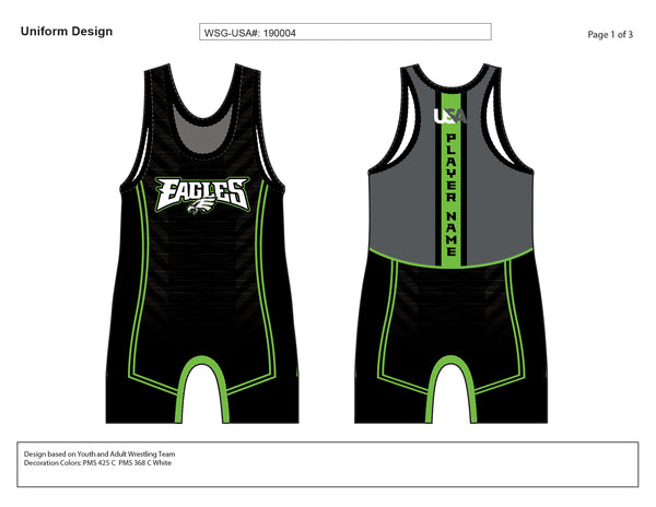 EAGLES WRESTLING SINGLET MOCKUP