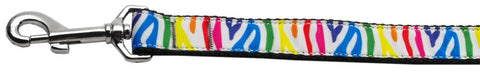 Rainbow Zebra Nylon Leash