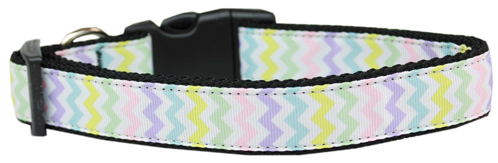 pastel chevron nylon collar