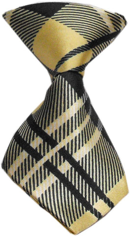 Cream Plaid Dog Neck Tie