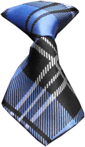 Blue Plaid Dog Neck Tie