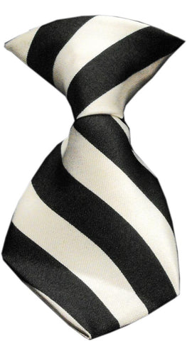White Stripe Dog Neck Tie