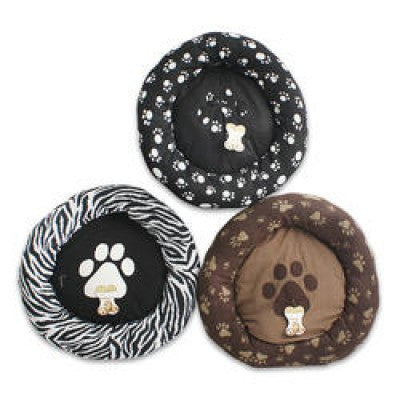 Animal Print Donut Dog Bed